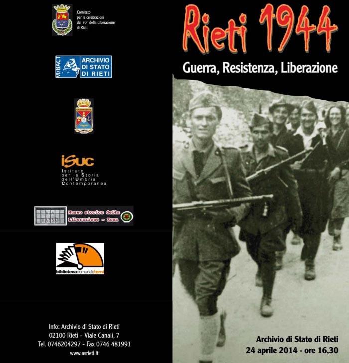 Rieti 1944. Guerra, resistenza, liberazione
