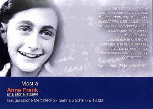 "Inaugurazione mostra ""Anne Frank. Una storia attuale"""