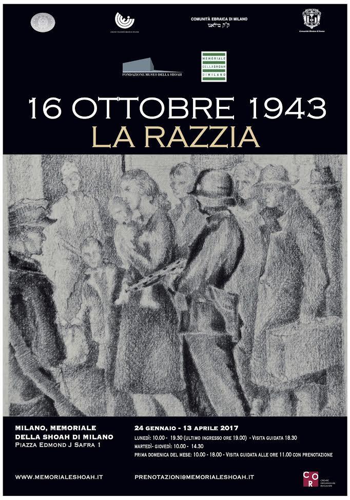 """Inaugurazione mostra """"16 ottobre 1943. La razzia"""" al Binario 21 di Milano"""