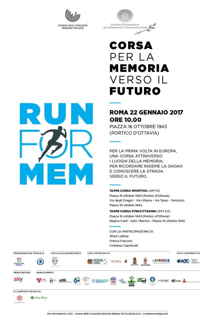 Corsa per la Memoria verso il Futuro – Run for Mem
