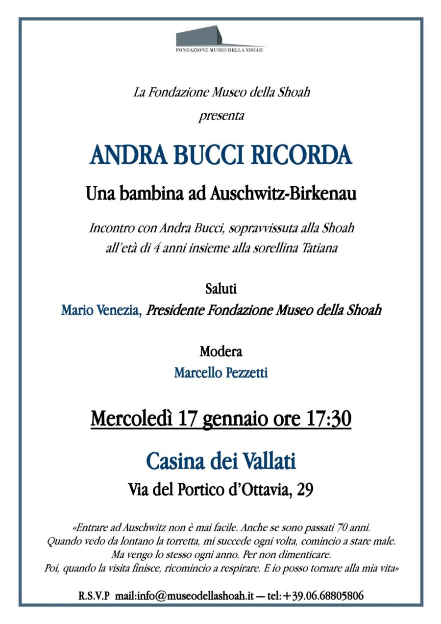 ANDRA BUCCI RICORDA