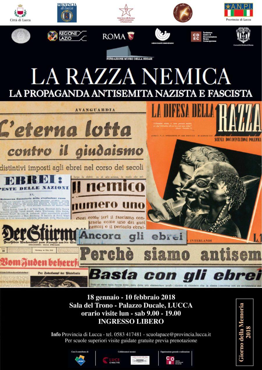 """Inaugurazione mostra itinerante """"La razza nemica"""" presso il Palazzo Ducale di Lucca"""