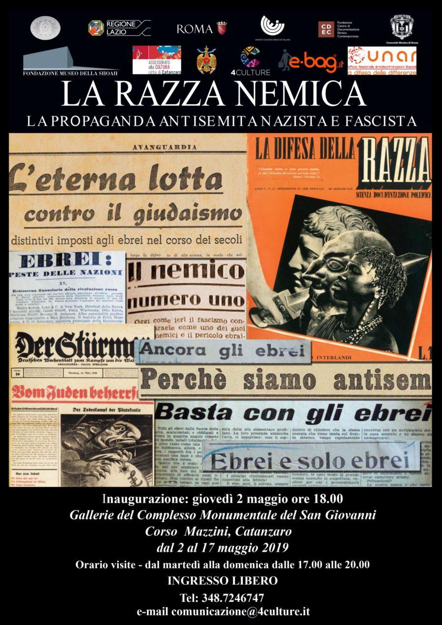 """MOSTRA ITINERANTE """"LA RAZZA NEMICA"""" IN COLLABORAZIONE CON UNAR: CATANZARO"""
