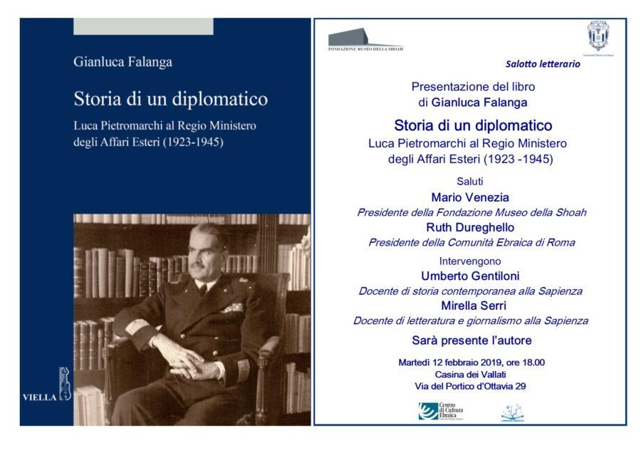 """Salotto Letterario """"Storia di un diplomatico. Luca Pietromarchi al Regio Ministero degli Affari Esteri (1923-1945)"""""""